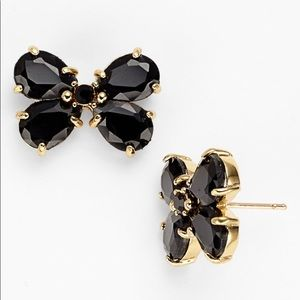 Kate Spade Black Garden Path Butterfly Earrings